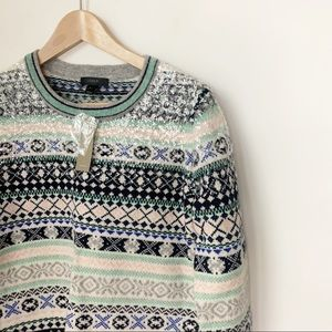 J Crew Sequin Fair Isle Sweater NWT S